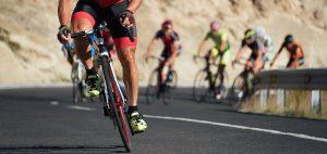 Road biking race with clear winner.